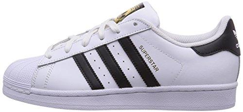 outlet store 55677 1b739 adidas Originals Superstar J Shoe (Big Kid), White Black White,
