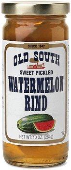 Old South Sweet Pickled Watermelon Rind 10 oz Jar (6 Pack) ()
