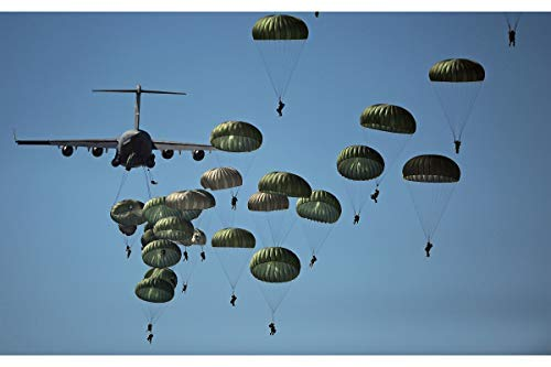 History Prints Paratroopers Military Wall Poster - U.S. Army 82nd Airborne Division - Photo of Exercise Trident Juncture 2015 - Made to Order - 16 x 24 ()