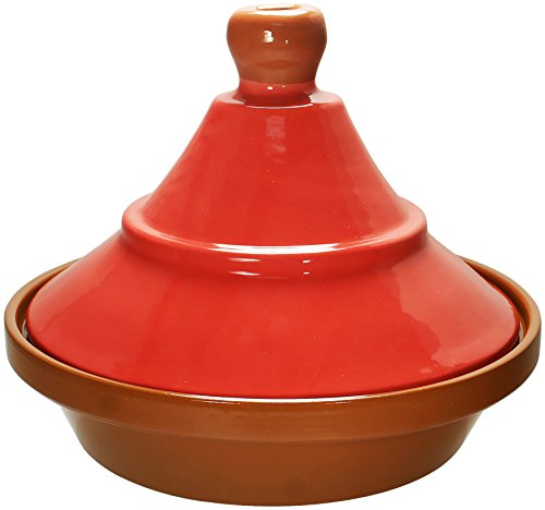 Reston Lloyd Hand Painted Natural Terra Cotta Tagine, 2-Quart, Madrid ()