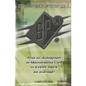 2008 Upper Deck SPX Football Factory Sealed Hobby Pack (1 Autograph or Game-Used per Pack)