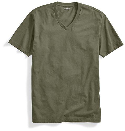 Goodthreads Men's Short-Sleeve V-Neck Cotton T-Shirt, Olive, Large