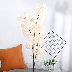 CANAFA-Home & Kitchen Artificial Flowers Artificial Silk Fake Flowers Pear Blossom Floral Wedding Bouquet Party Decor 114