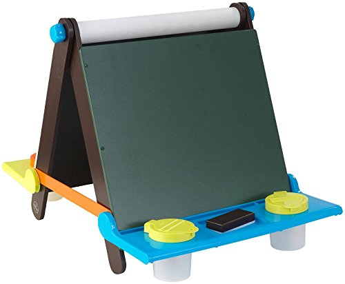 KidKraft Tabletop Easel - Espresso with Brights