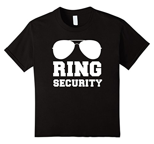 Kids Ring Security Shirt | Ring Bearer T-Shirt Boys Wedding Party 6 Black by Wedding Party Entourage