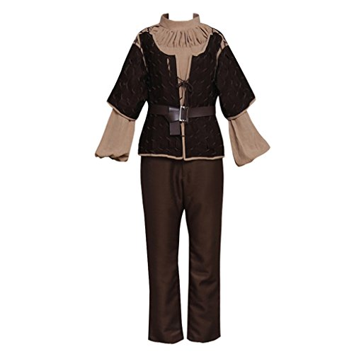 CosplayDiy Women's Suit for Game of Thrones Arya Stark Cosplay Brown L