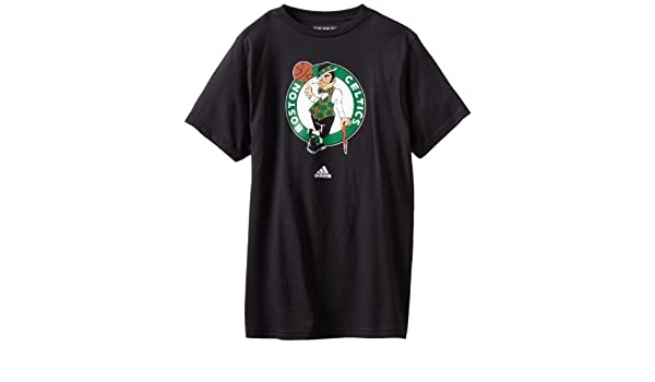 Adidas Boston Celtics NBA Black Full Primary Logo T-shirt camisa: Amazon.es: Deportes y aire libre