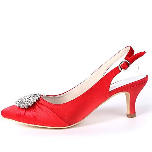 Buckle Mujeres Satin L yc Rhinestones Zapatos Platform 6cm Fy160 Purple Tacones De Las Blanco Boda Altos XwTP4wgq