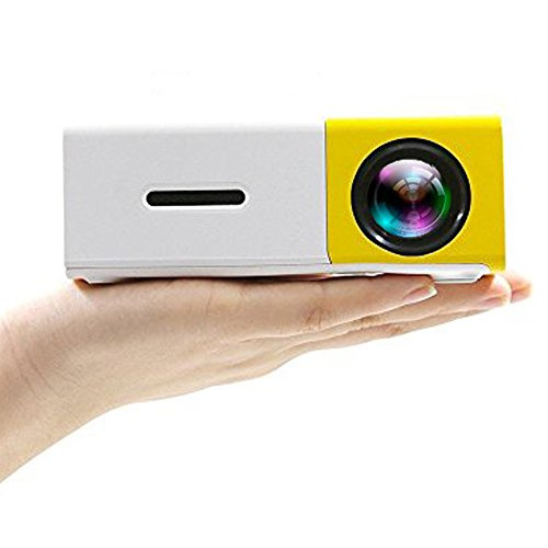 Camecho Mini Portable Projector LED Video Home Theater, Built-in Speaker, 1080P Full Color Media Player Personal Cinema TV Laptop Game - Entertainment Projectors by Camecho