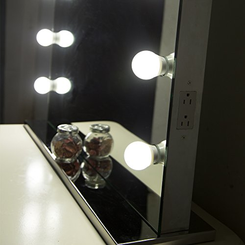 Hollywood Lights Bathroom: Aoleen Frameless Vanity Mirror With Light Hollywood Makeup