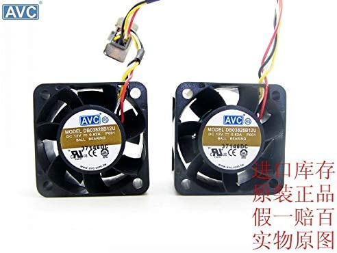 For AVC DB03828B12U 3828 3.8CM 38mm DC 12V 0.82A axial server inverter cooling fans
