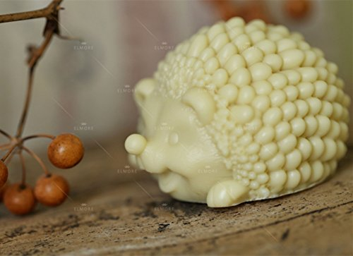 GRAINRAIN Soap Mold 3D Animal Hedgehog Silicone Soap Making Mould Candle Handmade Molds