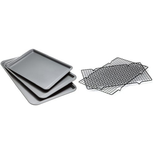 Good Cook 3pc Non-Stick Cookie Sheets & 2 Cooling Racks Deal (Large Image)