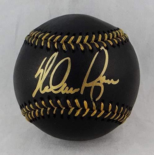 Ryan Nolan Ball (Nolan Ryan Autographed Rawlings OML Black Baseball - Beckett Authentication)