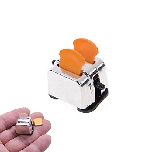 Dengguoli 1:12 Scale Dollhouse Toaster Miniature DIY Kit for Kitchen Decoration, Bread Maker Toys for Kids