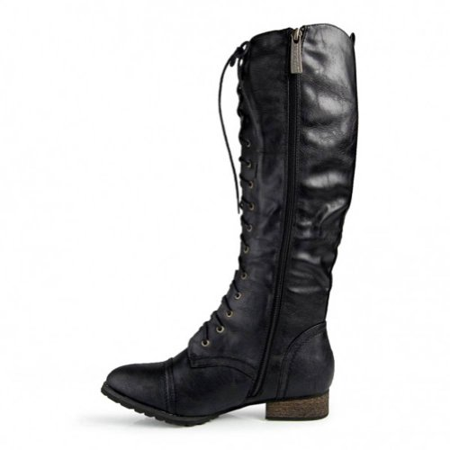 Women's Stacked Chunky Heel Back Zip Stylish Fringe Short Booties - stylishcombatboots.com