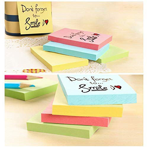 Super Sticky Notes, Self-Stick Notes, 24 Pads/Pack, 100 Sheets/Pad, Sticky Notes 3x3 inch with Assorted Colors, Post Notes for Study, Works, Daily Life etc. Photo #2