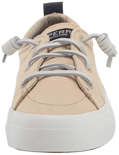 Sperry womens Crest Vibe Sneaker, Natural, 5.5 US