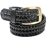 VOGARD Genuine Leather Men's Belt (Black, Free Size)