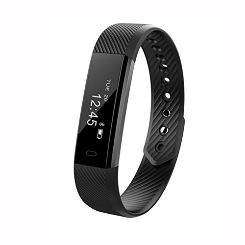 SFTRANS Smart Bracelet, Bluetooth 4.0 Fitness Tracker with Pedometer Monitoring, Calories Burnt and Waterproof,Activity Tracker for iPhone Xs max Xs X 8 7 6, iPad,Samsung Galaxy S9 S8 S7 S6