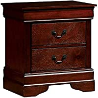 Furniture of America CM7866CH-N Louis Philippe III Cherry Nightstand