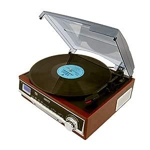 Camry CR-1113 - Tocadiscos (33/45/78 rpm), color marrón: Amazon.es ...