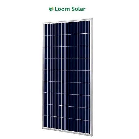Loom solar Panel 160 watt - 12 Volt Multi crystalline (Pack of 2)