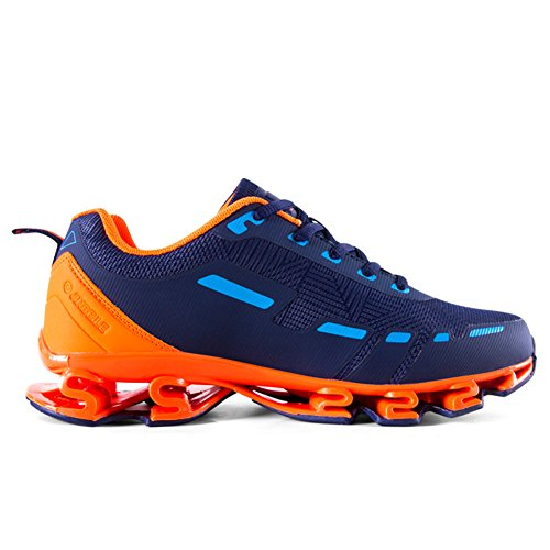 Mens Comfortabel Platform Wandelende Sneakers Lichtgewicht Casual Tennis Air Fitness Schoenen Schokabsorptie Oranje