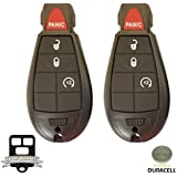 New 4 Button Replacement For Dodge/Chrysler/Jeep Fobik Remote Iyz-C01c M3n5wy783x W/Duracell Battery Inside