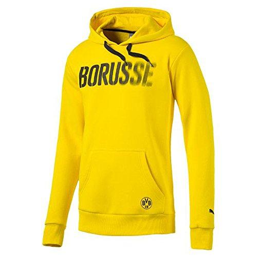 Puma Borussia Dortmund BVB Yellow Graphic Hoodie Size M