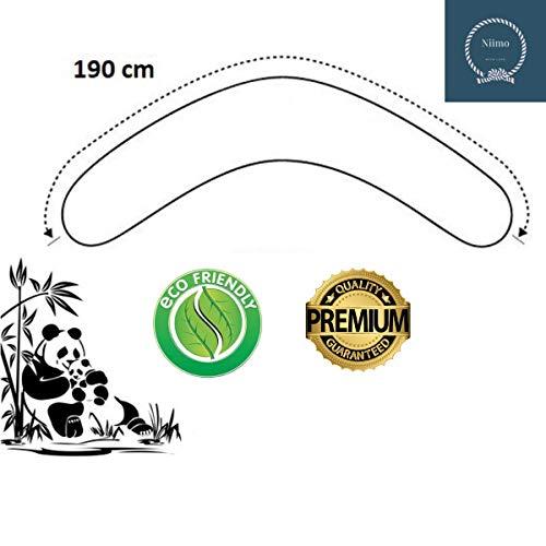 Niimo® Federa Cuscino Allattamento e Gravidanza, Sfoderabile e Lavabile, 100% Morbido Cotone (Grigio-Pois Bianchi)