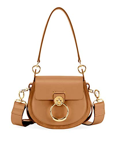 272b48b749 Chloe Tess Large Leather/Suede Camera Crossbody Bag made in Italy ...