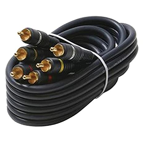 STEREN 254-325BL Triple RCA Composite Video Cable (25ft)