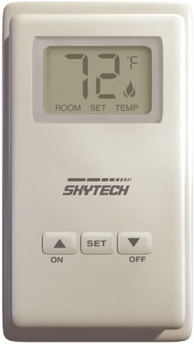 SkyTech TS-3 Wired Wall Mounted Thermostat Fireplace Control (SKY-TS-3) by SkyTech