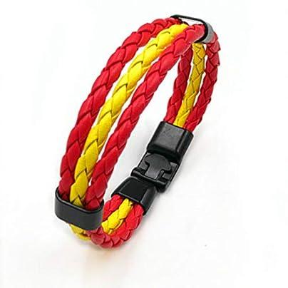 ZUOZUO Leather Wristband 3-Layer Woven Leather Soccer Bracelet Charm Punk Rock Men S Wristband Jewelry Estimated Price £18.99 -