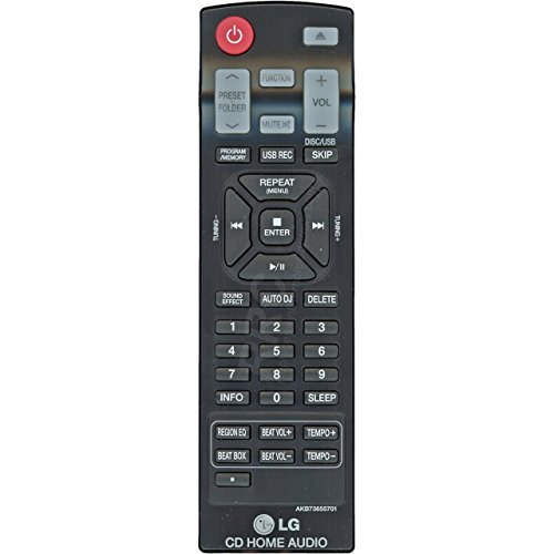 LG AKB73655701 Book-Shelf Audio Stereo System Remote Control
