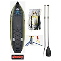 2014 Boardworks Badfisher MCIT 11' Inflatable Fishing Stand-Up Paddle Board -Bundled with FREE Adjustable SUP Paddle from Boardworks