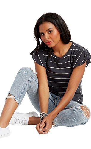 Demi Slim Jeans - Silver Jeans Co. Women's Aiko Fit Mid-Rise Slim Crop Jeans, Light Destroyed Wash, 30x25