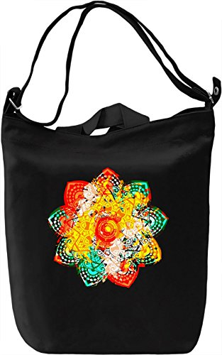 Mandala Borsa Giornaliera Canvas Canvas Day Bag| 100% Premium Cotton Canvas| DTG Printing|