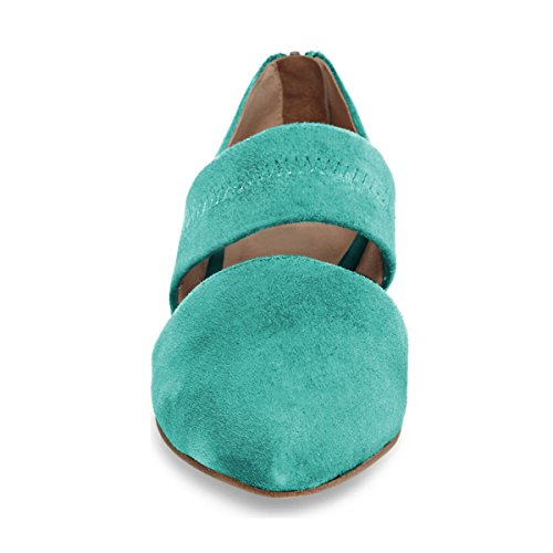 Jane Ballet Elastic Casual Women's Comfy Strap Pointy Turquoise D'Orsay YDN Toe Flats Mary Shoes qxSwPn0Ft
