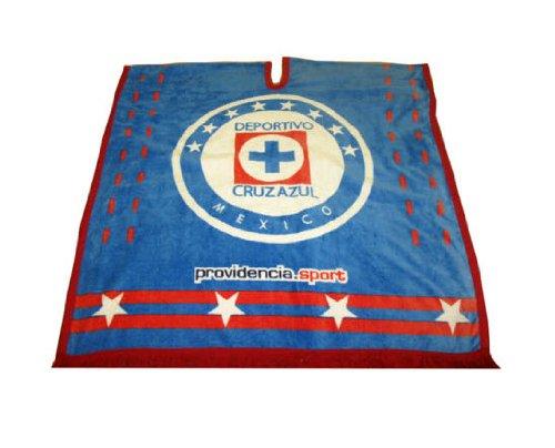 Deportivo Licensed Cruz Azul Poncho - Mexico Soccer Team Pancho (Cruz Cup World Azul)