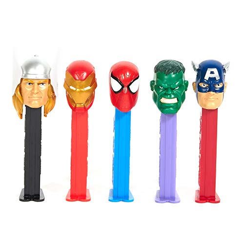 The Marvel Avengers Pez Dispenser with 3 refill candies (Heroes Vary) ()