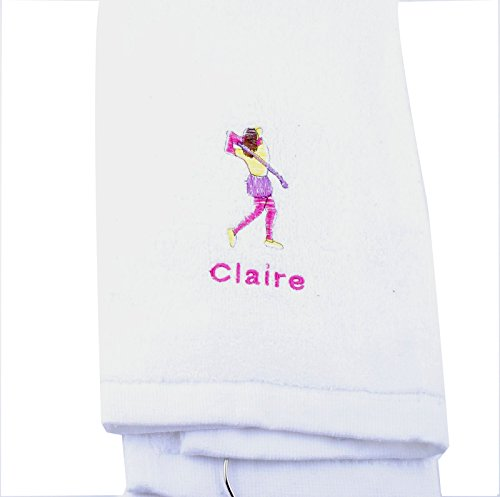 Personalized Golf Towel for men Custom Embroidered with Hanging Ring for Birthday Fathers Day Gift - Golf Name Personalized Towel