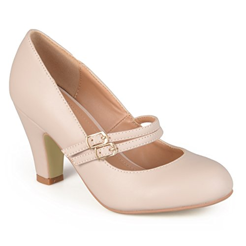 - Journee Collection Womens Matte Finish Classic Mary Jane Pumps Nude, 9 Regular US