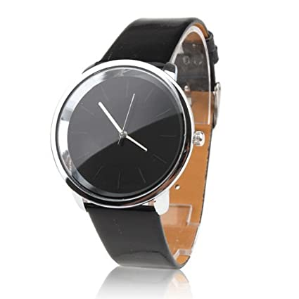 Amazon.com: Elegant Women Men Fashion Wrist Watch Quartz Electric Mvmt wristwatch Analog Dial Stainless Steel Round Case Leather Sport: Watches