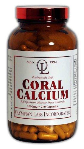 Le calcium de corail Olympian Labs, 1g par portion, 1000 mg, 270 Capsules