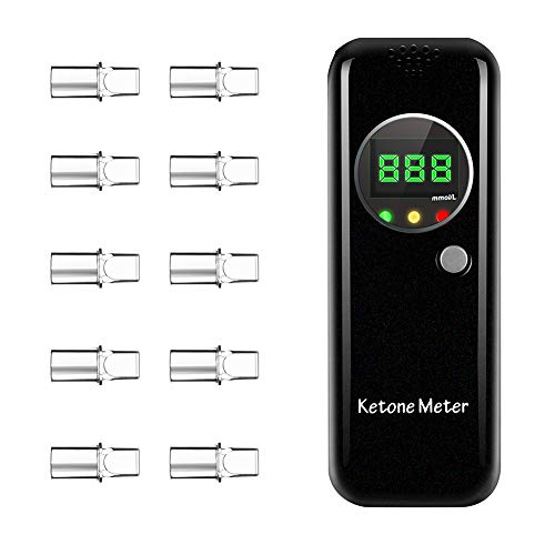 Ketone Breath Analyzer, Ketone Meter with 3 LED Indications for Ketogenic Diet Testing