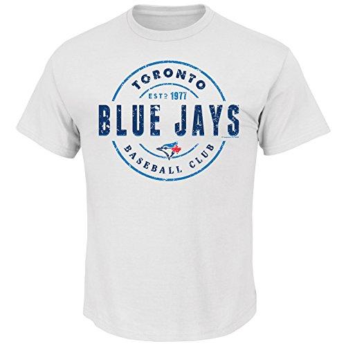 MLB Toronto Blue Jays Men's Motion Tee, Medium, White