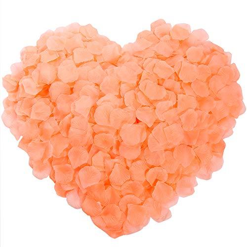 Auihiay 1200 Pieces Silk Rose Petals Artificial Flower Petals for Wedding Aisle, Party Favor, Table, Vase, Home Decoration