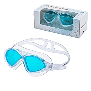 ROTERDON Swimming Goggles Vista No Nose With Anti Fog Uv Protection Eye Mask Seal Well Triathlon Equipment For Men Adult Kids Youth Swim In Outdoor Pool Buy From Amazon Online Swim Store (Lake Blue)